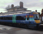 Class 170 train at Halesworth