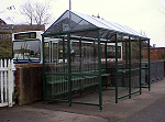 Bus shelter at Halesworth