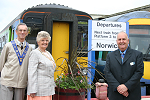 Launch of the East Suffolk Line floral displays for 2006 at Lowestoft, with the Mayor of Lowestoft on 20 May 2006