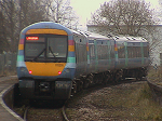 East Suffolk Line train leaving Beccles