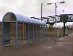 Existing shelter at Beccles station