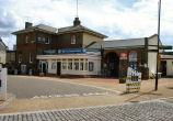 Woodbridge rail station forecourt