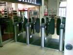 Tickets barriers at Ipswich station