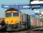 Thursday 04 Feb 2010 Rail freight at Port of Felixstowe - courtesy Network Rail