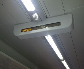 New passenger information screen and LED lighting