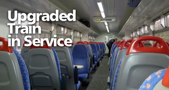 Class 156 upgraded train in service