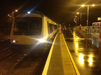 The 5:57 service on 10 Dec 2012 is the first train to use the new Beccles Loop