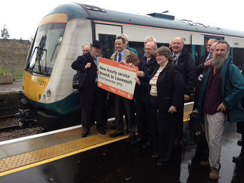 The official opening of the Beccles Loop at 10:22 10 Dec 2012