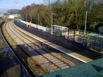 Beccles station restored platform and loop track