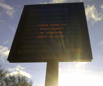 New real-time information screen at Beccles