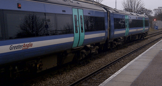 Franchise Extended - A Greater Anglia service at Saxmundham