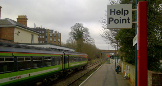 New help point at Halesworth