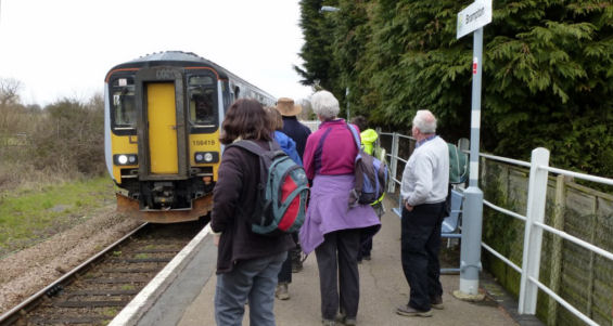 Ramblers at Brampton Station 13 April 2013