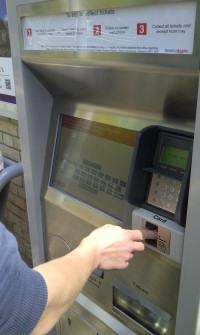 Saxmundham station ticket machine