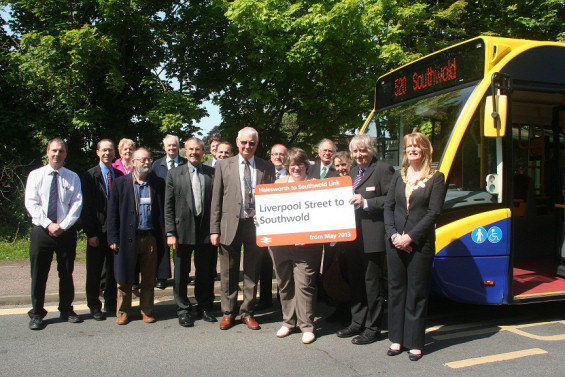 The official launch of the new Halesworth to Southwold add-on ticket at Halesworth rail station