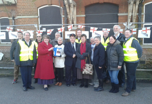 Trimley Station Trust celebrate the commencement of the new two year lease