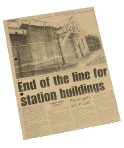 2003 Trimley station newspaper article