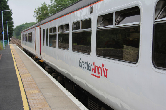 An Abellio Greater Anglia service at Darsham Station (photo credit Tim Ward)