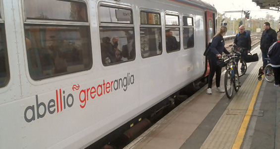 An Abellio Greater Anglia service at Ipswich