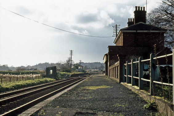 A lonely Melton Station as it looked 07 November 1976 during its closure of 29 years - Photo courtesy Mark Dufton