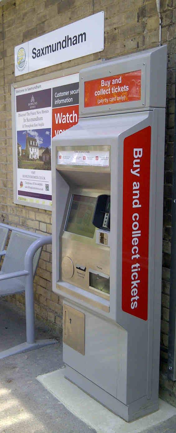 Saxmundham Ticket Vending Machine