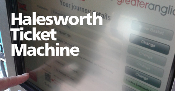 Halesworth Ticket Machine