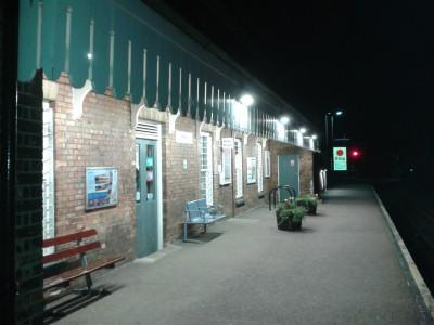 Melton station platform
