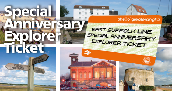 East Suffolk Line Special Anniversary Explorer Ticket