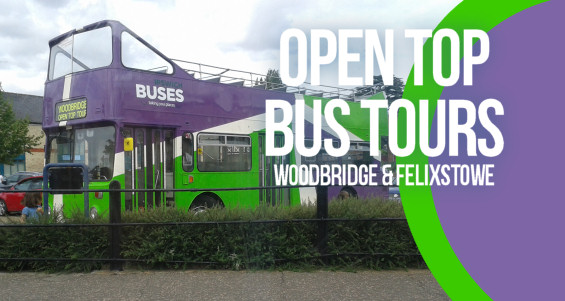 The open top bus at Woodbridge Station