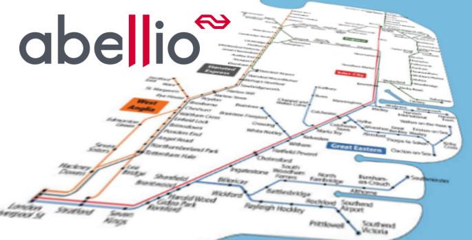 Abellio East Anglia route map