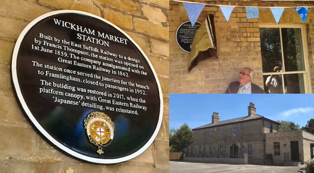 Wickham Market Station Plaque Dedication
