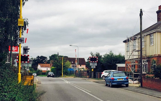Westerfield level crossing