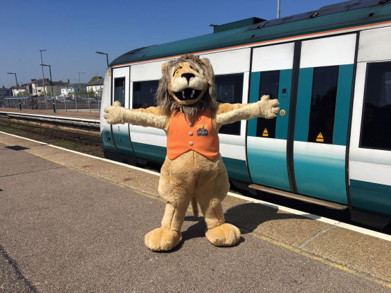Reggie the Lion at Lowestoft Station