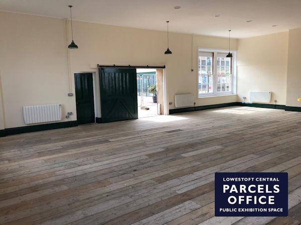 Inside the new Parcels Office public exhibition space