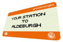 Rail/Bus ticket to Aldeburgh