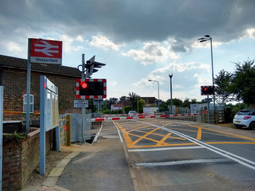 Westerfield level crossing 16 July 2019