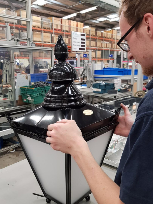 New Victorian-style lighting for Lowestoft being assembled at the factory