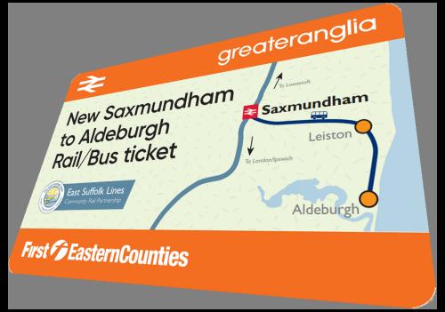Aldeburgh Rail Bus Ticket