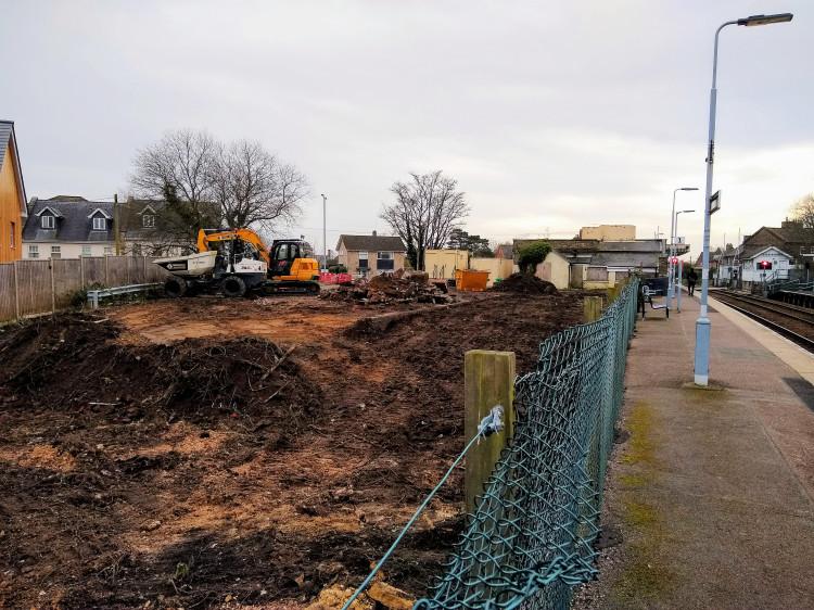 Works at Saxmundham Car Park 14 February 2020