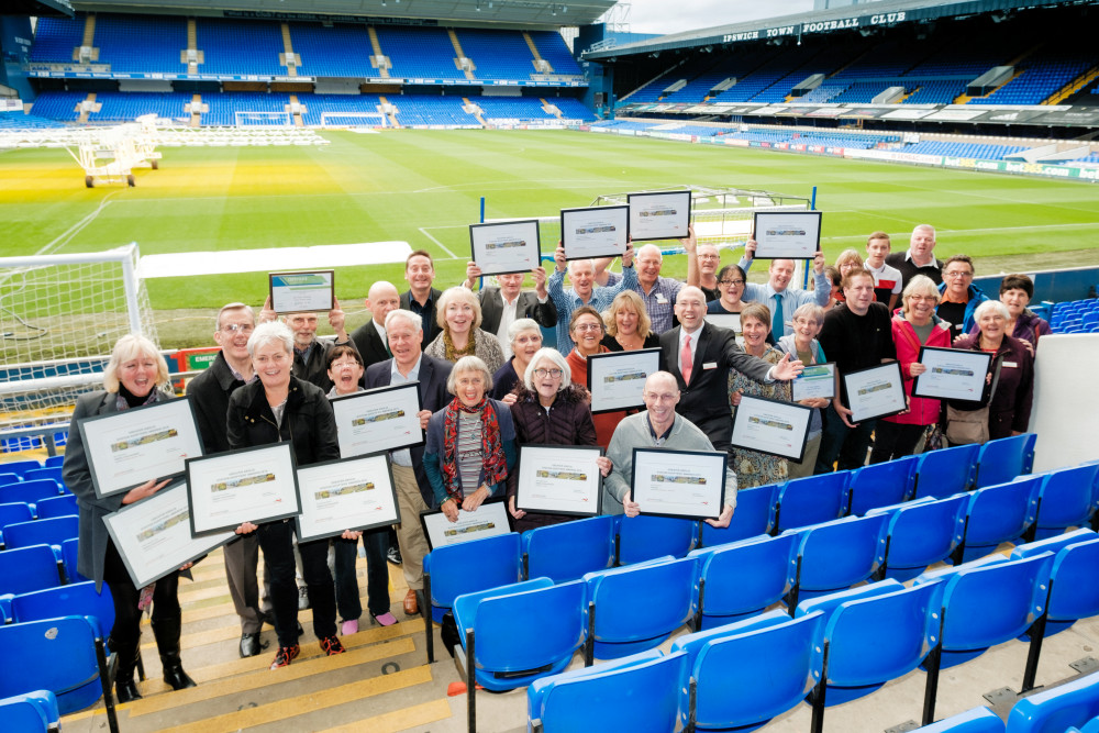 Station Adopters at Greater Anglia's annual Adopter Awards at Ipswich Town Football Club 11 October 2019
