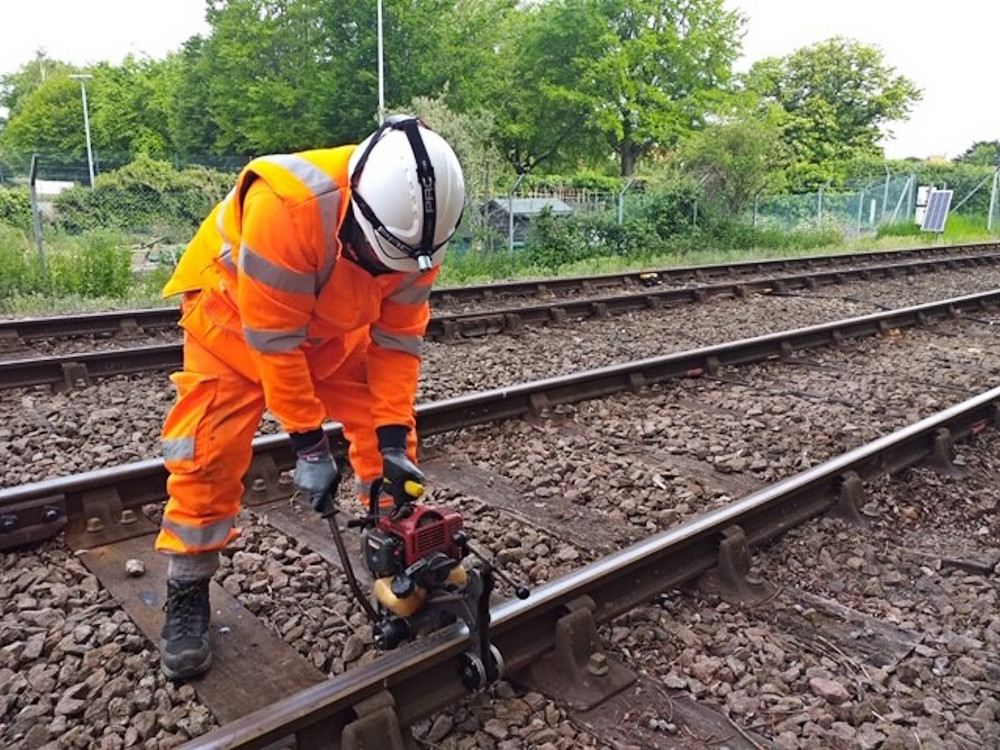 Axle counters being fit on the East Suffolk Line