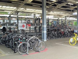 The existing cycle park at Ipswich Station