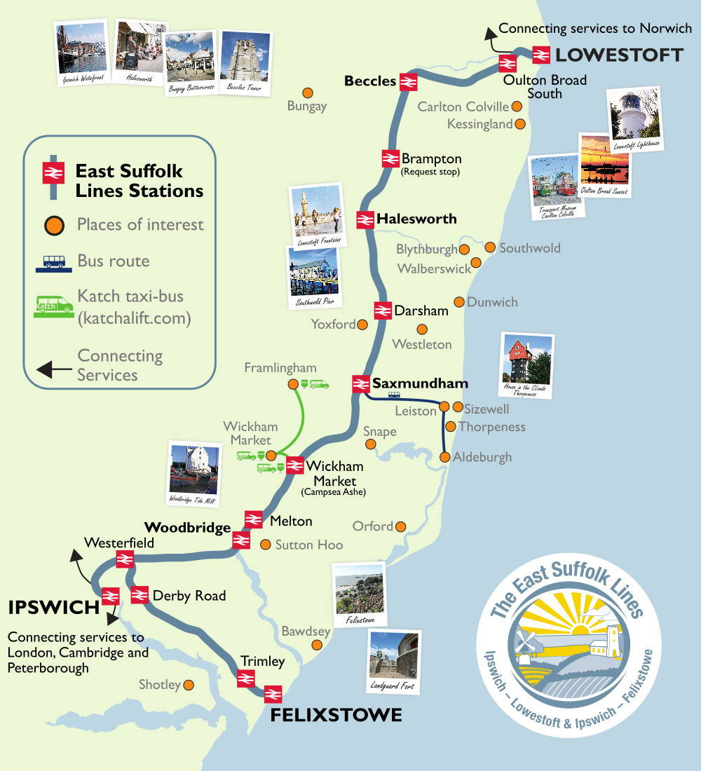 Route map and destinations