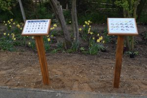 Lecterns at Westerfield station