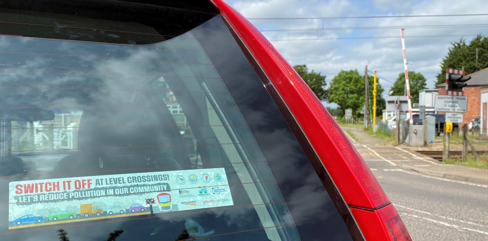 Car with 'Switch it off' sticker
