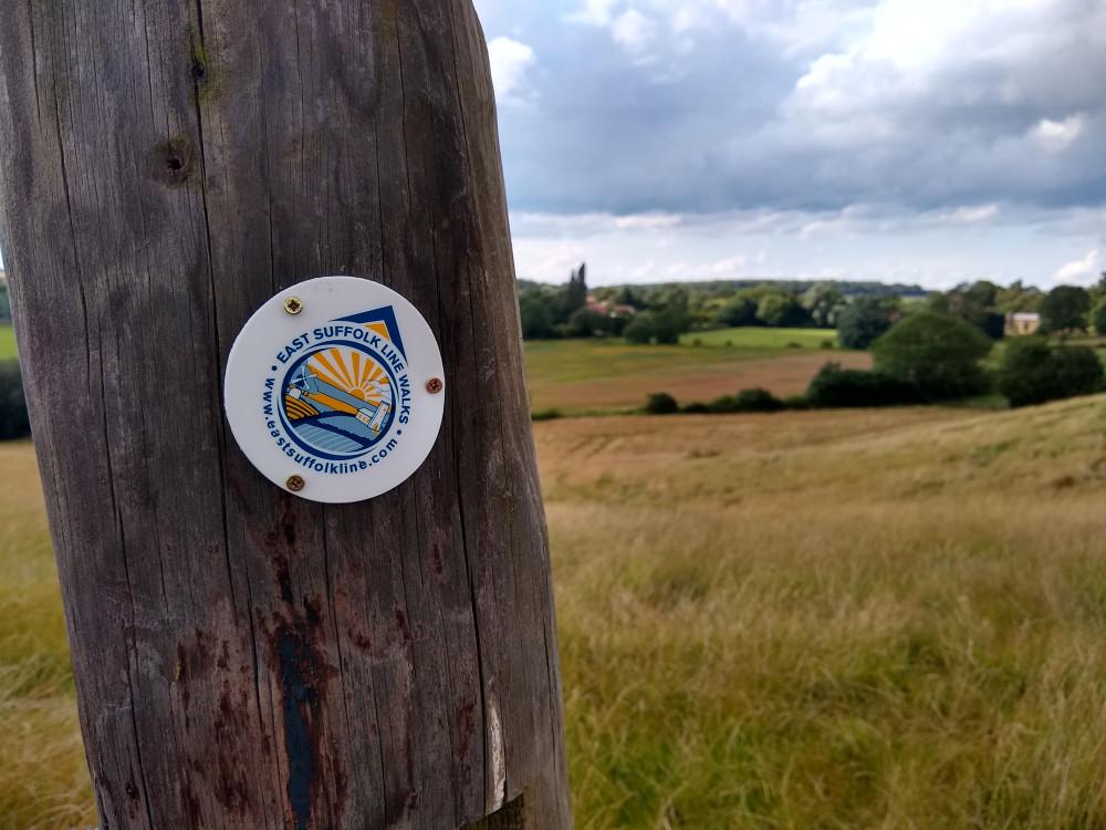 East Suffolk Lines Walks way marker at Parham