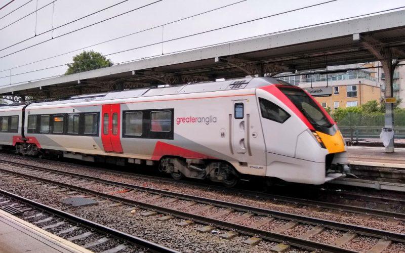 Intercity train at Ipswich June 2021
