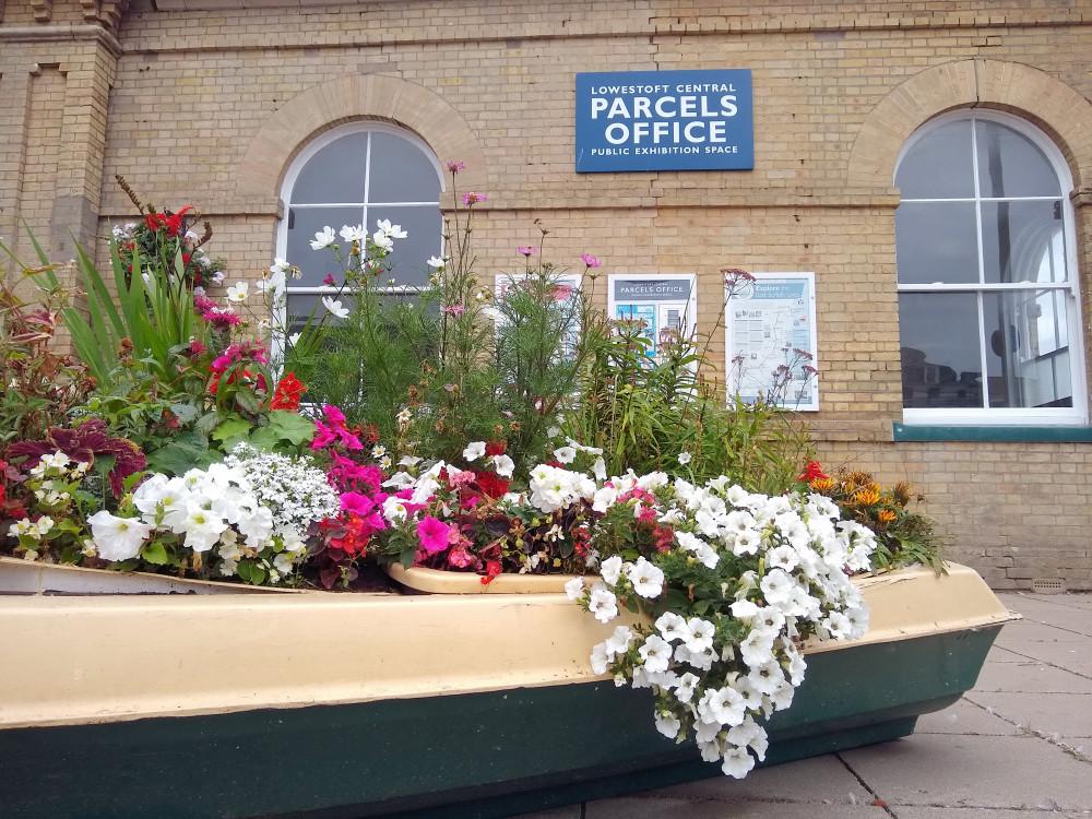 Lowestoft station flowers 20 August 2021